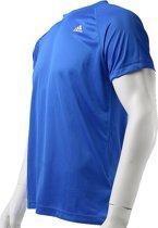 adidas Base Plain Tee  AC4318 , Mannen, Blauw, T-shirt maat: S EU