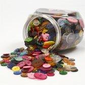 Knopen mix, d: 12+18+20 mm, diverse kleuren, 800stuks