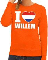 Oranje I love Willem sweater dames XS