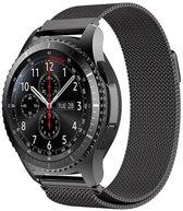 KELERINO. Milanees bandje - Samsung Galaxy Watch (46mm)/Gear S3 - Zwart