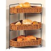 Grote Broodjes Hoek Etagère met 3 lagen om Brood of Fruit in te leggen   3 plateaus, etagere   Gevlochten Brood manden   Afm. 60 x 47 x 31 Cm.   Hoek model