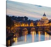 De Sint-Pietersbasiliek in Italië Canvas 30x20 cm - klein - Foto print op Canvas schilderij (Wanddecoratie woonkamer / slaapkamer)