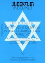 Exegetische Methodik in Pirke De-Rabbi Elieser, Kapitel 1-24
