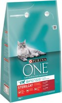 Purina One Sterilised Cat - Rund/Tarwe - Kattenvoer - 3 kg