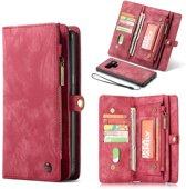 CASEME Samsung Galaxy Note 9 Luxe Lederen Portemonnee Hoesje - met backcover (rood)