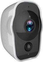 Orretti® HD 2 MP Volledig draadloze Wifi Camera met Batterij met iOS & Android Smart App - Draadloze IP Video Beveiligingscamera met Nachtzicht Bewegingsdetectie (Wit)