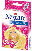 Nexcare™ Aqua 360° pleisters, design Barbie, 14 pleisters, N1314MB