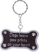 Sleutelhanger 'Dogs leave paw prints on your heart'