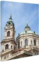 Sint Nicholas kerk Praag Canvas 120x180 - XXL cm - Foto print op Canvas schilderij (Wanddecoratie)