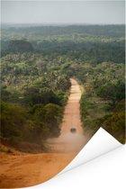 Weg door de jungle Afrikaanse jungle in Mozambique Poster 120x180 cm - Foto print op Poster (wanddecoratie woonkamer / slaapkamer) XXL / Groot formaat!