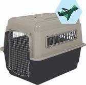 Varikennel Ultra Transportbox Large - 91x63x66 cm - Beige/Lichtbruin - Max. gewicht hond 31.7kilo