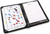 Luxe Zwarte Coachmap voor Voetbal (Coachbord / Coaching Table / Tactiekmap )