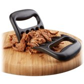 relaxdays vlees klauwen set van 2 - meat claws voor pulled pork - bbq klauwen - zwart