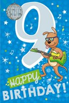 Cijferkaart met muziek 9 Happy Birthday!