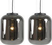 QAZQA Bliss - Hanglamp - 2 lichts - H 2100 mm - Zwart