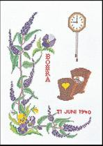 Thea Gouverneur Borduurpakket 866A Geboortetegel Juni - Aida stof 100% katoen