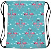 Flamingo Love Rugtasje - Ideaal als Gymtas / Zwemtas