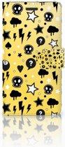 Samsung Galaxy Note 5 Uniek Boekhoesje Punk Yellow