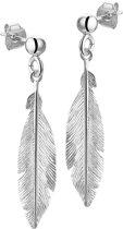 The Fashion Jewelry Collection Oorhangers Veer - Zilver Gerhodineerd