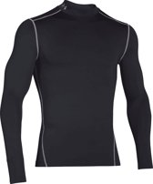 Under Armour CG Armour Mock Heren Sportshirt - Zwart - Maat XXL