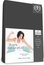 Bed-Fashion Mako Jersey hoeslakens de luxe 120 x 210 cm antra