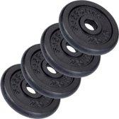 ScSports Halterschijven - 4x 2.5 kg - Ø 30.5 mm - zwart gietijzer