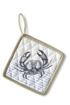 Riviera Maison Catch Of The Day Pot Holder - Pannenlap - wit/blauw