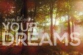 Premium Aluminium - Foto op aluminium - Tekst: Never let go your dreams (40 x 60cm)