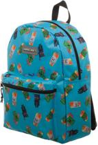 MINECRAFT - Enemy All Over  Toss Print Blue Backpack - 40 cm