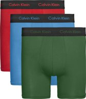 Calvin Klein - Heren 3-Pack Brief Boxershorts Groen Rood Blauw - S