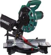 VONROC Afkortzaag 1700W – Ø216mm 40 tands zaagblad – Kap-en verstekzaag – met laser