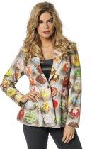 Feesten & Gelegenheden Kostuum | Cupcake Colbert Dames Multi Vrouw | Maat 42 | Carnaval kostuum | Verkleedkleding
