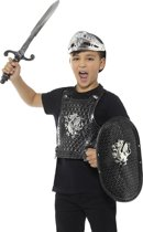Zwarte ridder kinderen verkleedset