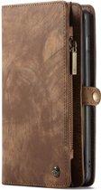 Caseme - Samsung Galaxy S10 Plus Hoesje - Uitneembare Portemonnee Vintage Bruin