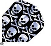 Harrows darts Flight 1661 hologram multi skulls 3 stuks