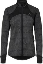 Only Play Hiss Run Brushed Zip Jacket Dames Vest - Black - Maat XS