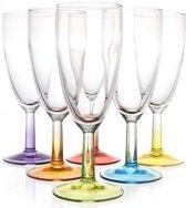 Luminarc Crazy Colors Champagne Flute 19cl ( Set van 6 )
