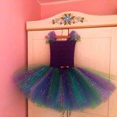 Ariel de kleine zeemeermin paars tutu jurk 98/104