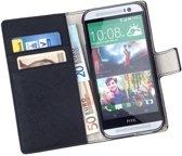 MP Case Bookcase Zwart Flip Cover Wallet Hoesje HTC One M8