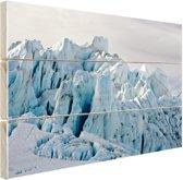 Gletsjer berg  Hout 80x60 cm - Foto print op Hout (Wanddecoratie)