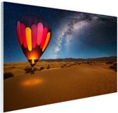 De sterrenhemel boven de woestijn Glas 90x60 cm - Foto print op Glas (Plexiglas wanddecoratie)