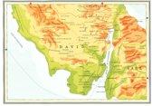 Kaart Atlas van het bijbelse continent - Koning David