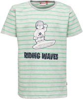 Lego wear Legowear T-shirt riding waves groen - 110