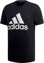 adidas MH BOS Tee Heren Sportshirt - Black/White - Maat L