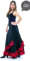 Spaanse Flamenco Rok - Sevilla - Maat S - Volwassenen - Verkleed Rok
