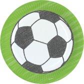 Amscan Kartonnen Feestborden Voetbal 23 Cm 8 Stuks