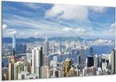 Canvas schilderij Uitzicht | Blauw, Wit, Grijs | 120x70cm 1Luik
