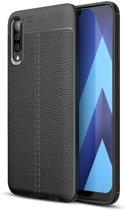 Mobigear Litchi TPU Hoesje Zwart Samsung Galaxy A70