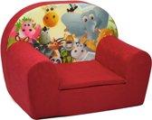 Luxe kinderstoel - kinderfauteuil - sofa - 60 x 45 - rood - Madagaskar