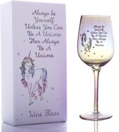 Unicorn Luster wijnglas met diamante edelstenen 550ml